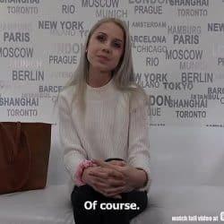 Adolescente checa pierde la virginidad en su primer casting