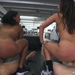 Orgía en el gimnasio con estas putas deportistas