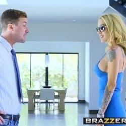 Madura Sarah Jessie follando con el jovencito Jessy Jones para Brazzers