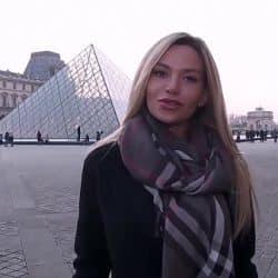Rusa rubia tetona Subil Arch es pillada follando con un francés
