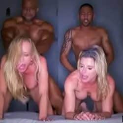 Orgía interracial con las rubias Brandi Love y Cori Chase