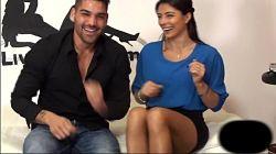Sofia Gucci follando en vivo con Nando Colelli