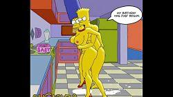 Bart y su mamá Marge follan como regalo de cumpleaños para él