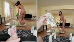 La criada latina está dispuesta a hacer cualquier cosa por dinero
